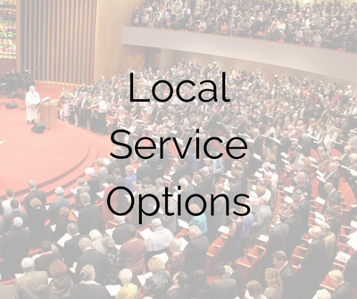 Want to take advantage of the diverse service options available, but make sure you pick the right experience for you? See Local Service Options.  ​